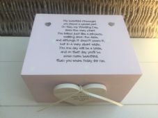 Shabby Personalised Chic Flower Girl Flowergirl Wedding Keepsake Gift Box